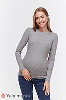 Лонгслив для беременных и кормящих STEFANIA WARM NR-49.071 серый меланж, фото 1