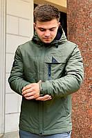 Демисезонная мужская куртка Хаки осенняя (46-54р)