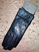 Кожа-натуральная с шерсти сетка женские перчатки только оптом, фото 1