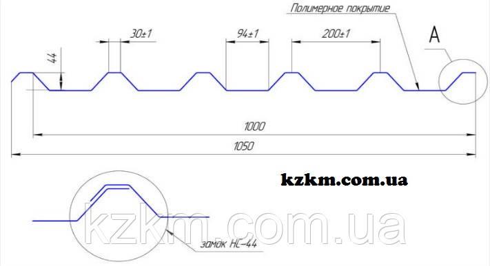 Профнастил несуще-стеновой НС-44