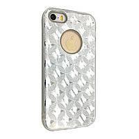 Накладка DK-Case силикон райский дождик пластик вставка Stars for Apple iPhone 6/6S Plus (silver)