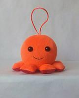 Мягкая игрушка Осьминог, 9х13 см, оранжевый