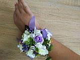 Браслет на руку из роз Flowers. Цвет сиреневый., фото 3