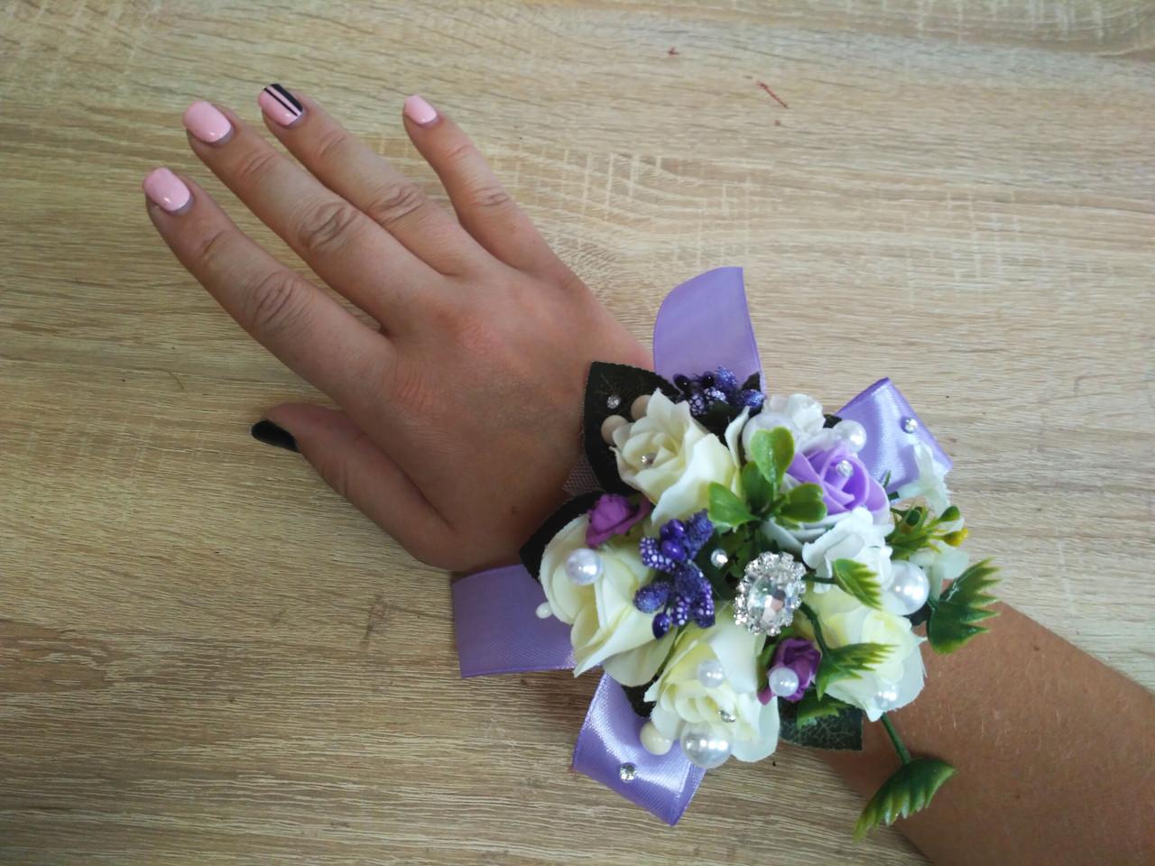 Браслет на руку из роз Flowers. Цвет сиреневый.