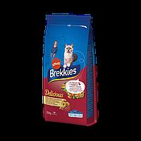 Brekkies Delicious Poultry 20 кг корм  для кошек с мясом