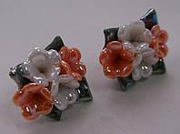 Серьги-гвоздики из полимерной глины № 9 с эмалью от Студии  www.LadyStyle.Biz