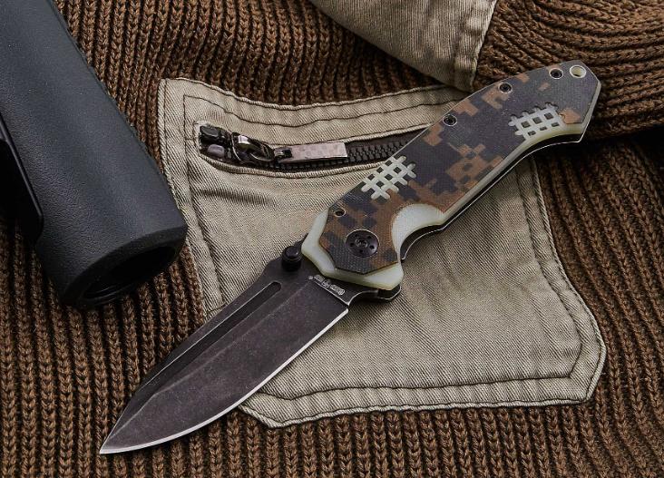 Нож складной, удачная модель каждодневного ношения с элементами милитари-стиля, имеется и накладка из G 10