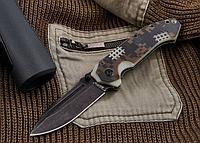 Нож складной, удачная модель каждодневного ношения с элементами милитари-стиля, имеется и накладка из G 10, фото 1