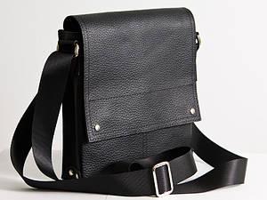 Мужская сумка кожаная 01 черный флотар 04010101