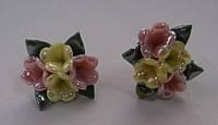 Серьги-гвоздики из полимерной глины № 10 с эмалью от Студии  www.LadyStyle.Biz