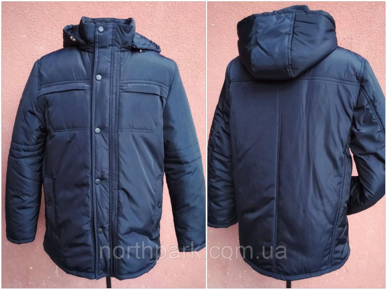 Мужская зимняя куртка классическая, большие размеры