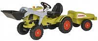 Трактор-погрузчик педальный BIG Клаас для катания малыша с прицепом (56553)