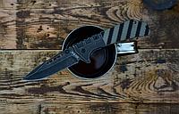 Нож складной, с одной стороны рукоять металлическая, с другой имеется накладка из G 10, удобная насечка, фото 1