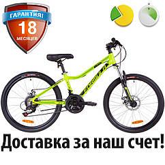"""Подростковый велосипед 24"""" Formula ACID 1.0 DD 2019 (салатно-черный с бирюзовым)"""