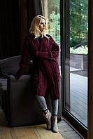 Оригинальный объёмный женский кардиган крупной вязки батал с 56 по 66  размер