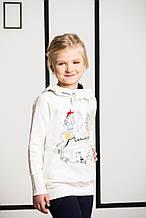 Детская толстовка для девочки BRUMS Италия 133BGFC009 Молочный