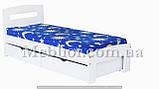 """Односпальне ліжко """"Ірис міні"""" з ящиками (масив бука), фото 4"""