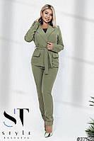 Костюм женский стильный брючный в расцветках 50995, фото 1