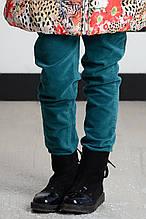 Детские брюки для девочки Pezzo D'oro Италия S04G1021 Зеленый 170