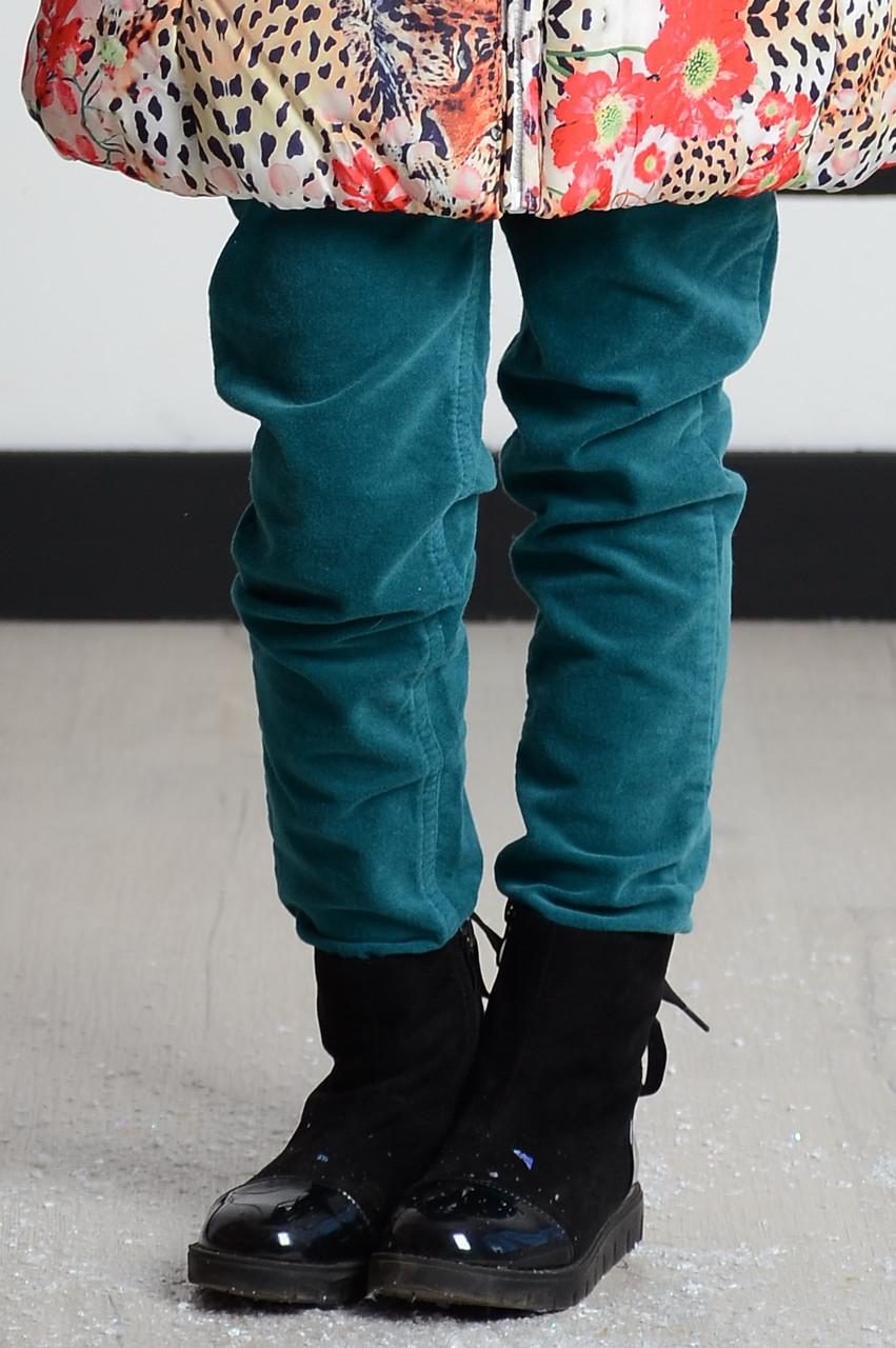Детские брюки для девочки Pezzo D'oro Италия S04G1021 Зеленый