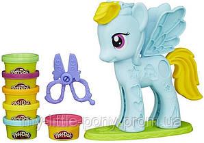 Игровой набор с пони Стильный салон Рейнбоу Дэш Play-Doh Hasbro (Май литл пони)