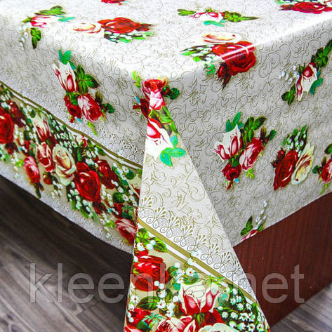 Скатерть-клеенка ПВХ на обеденный стол, оптовая продажа от 25 м, фото 2