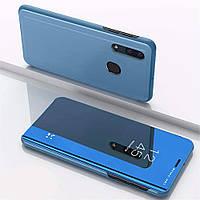 Чехол Mirror для Samsung Galaxy A20 2019 / A205 книжка зеркальный Blue
