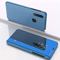 Чехол Mirror для Samsung Galaxy A30 2019 / A305 книжка зеркальный Blue