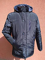 Мужская теплая зимняя куртка, темно-синяя, фото 1