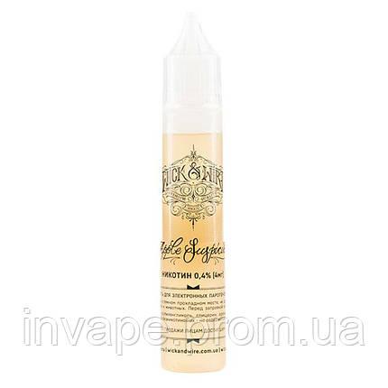 Жидкость для электронных сигарет Wick&Wire - Apple Suspicious (Красное яблоко, корица, ваниль) 30мл, 4 мг, фото 2
