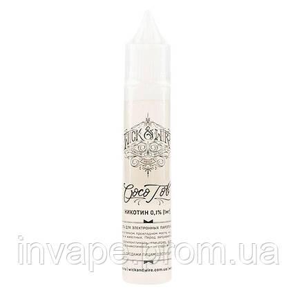 Жидкость для электронных сигарет Wick&Wire - Coco Tob (Кокос, табак) 30мл, 0 мг, фото 2