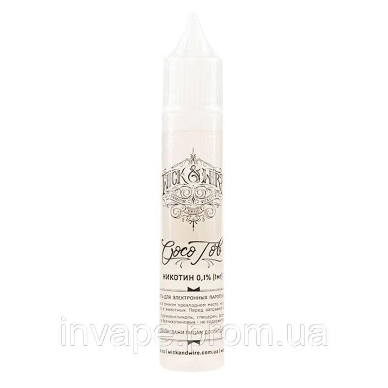Жидкость для электронных сигарет Wick&Wire - Coco Tob (Кокос, табак) 30мл, 0 мг