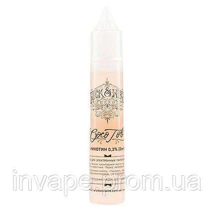 Жидкость для электронных сигарет Wick&Wire - Coco Tob (Кокос, табак) 30мл, 2 мг, фото 2