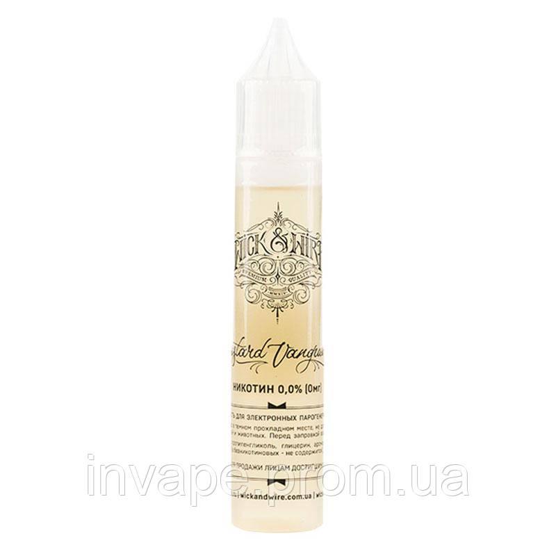 Жидкость для электронных сигарет Wick&Wire - Custard Vanguard (Персик, абрикос, заварной крем) 30мл, 0 мг