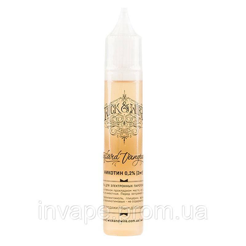Жидкость для электронных сигарет Wick&Wire - Custard Vanguard (Персик, абрикос, заварной крем) 30мл, 2 мг