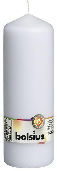 Свеча цилиндр Bolsius белая 20 см (70/200-090Б)