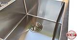 Кухонная мойка из нержавеющей стали Galaţi Arta U-750D 80*45 двойная, фото 5