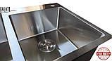 Кухонная мойка из нержавеющей стали Galaţi Arta U-750D 80*45 двойная, фото 7