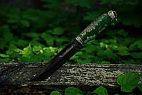 """Авторский нож ручной работы """"Лесной дух"""", дамаск"""