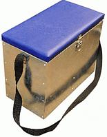 """Ящик для зимней рыбалки """"зингер"""" оцинкованный большой с окошком"""