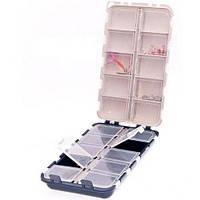 Коробка двойная 20 ячеек с крышками aquatech