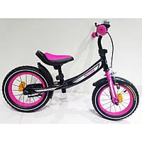 Беговел BALANCE TILLY 12 дюймов Фиолетовый с тормозом Matrix T-21259 Crimson, надувные колеса, Матрикс Тили