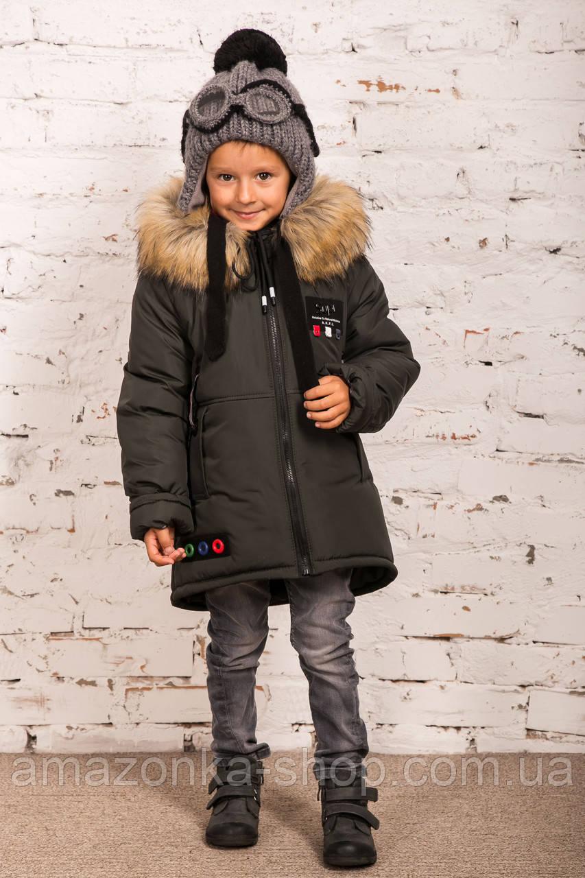 Теплая зимняя курточка для мальчиков - сезон 2019 - (модель КТ-640)