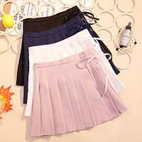 Короткая плиссированная юбка с лентой