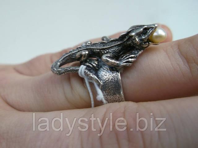 Студия Леди Стиль, Lady Style купить кольцо перстень ввиде лягушки оберег лягушка натуральный жемчуг купить подарок талисман сувенир натуральные камни