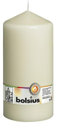 Свеча цилиндр Bolsius кремовая 20 см (100/200-011Б)