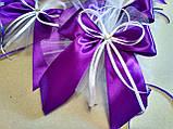 Украшение на ручку свадебной машины Bow. Цвет фиолетовый. Цена за 1 шт., фото 3