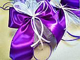 Украшение на ручку свадебной машины Bow. Цвет фиолетовый. Цена за 1 шт., фото 4