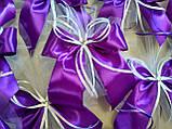 Украшение на ручку свадебной машины Bow. Цвет фиолетовый. Цена за 1 шт., фото 2