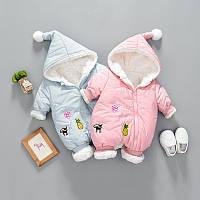 Весенний - осенний комбинезон для девочки и мальчика, 2 цвета, фото 1